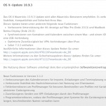 Software-Update Mac OS X 10.9.3 und Server version 3.1.2
