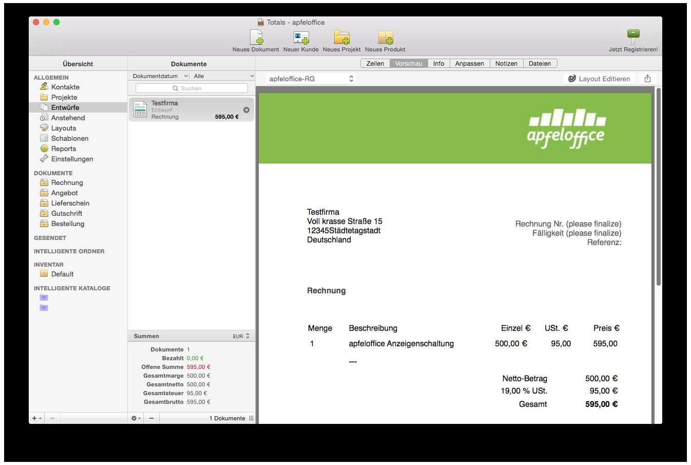 test rechnungen am mac schreiben mit 3 klasse apps. Black Bedroom Furniture Sets. Home Design Ideas
