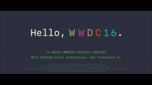 Apple Keynote 2016 zur WWDC. Quelle: Apple