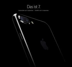 "Das neue iPhone 7 Plus in der Farbe ""Jet Black"". Quelle: Apple.com"